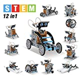 mababa 12-in-1 Robot Building Kit for Kids, STEM Educational Creation 190-Piece Kit with Solar Powered Motorized Engine and Gears, Science Experiment Set for 8 Ages up