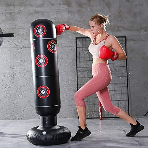 ODOMY Boxsack Standboxsack Aufblasbar Stehend für Fitness Krafttraining für Erwachsene Kinder Jugenbdliche