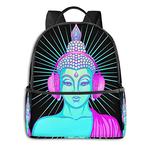 Buddha Groove Pullover Hoodie Student School Bag School Cycling Leisure Travel Camping Outdoor Backpack