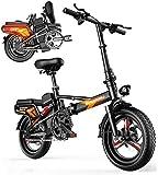Bicicletas Eléctricas, Bicicleta Plegable eléctrica Fat Tire 14', la Ciudad de montaña de la Bicicleta Booster 55-110KM, con 48V 400W silenciosa del Motor E-Bici, Tienda for Portable fácil en Caravan