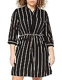 ONLY Damen Onltamari 3/4 Shirt Dress Wvn Noos Kleid, Schwarz, 44 EU
