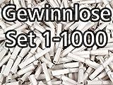 Röllchenlose weiss, Set 1-1000