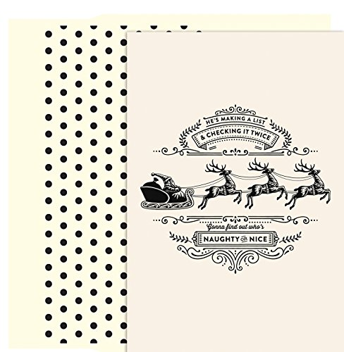Masterpiece Studios Holiday Collection Petites Boxed Cards, Making A List, 18 Cards/18 Foil-Lined Envelopes
