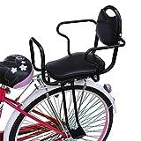 子供の自転車の安全な後部座席 二重手すりが付いている速い分解の子供の座席 年齢3-8,Black