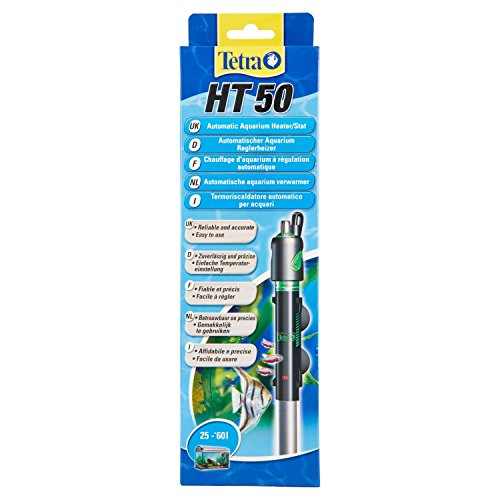 Tetra HT 50 Reglerheizer (leistungsstarker Aquarienheizer zur Abdeckung unterschiedlicher Leistungsstufen mit Temperatureinstellknopf, Heizvorrichtung für Aquarien von 25 bis 60 Liter)