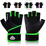 HTZPLOO Workout Gloves Gym Gloves Weight Lifting Gloves for Men with Full Palm Pad,Strong Wrist...