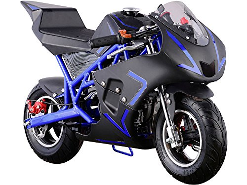 MotoTec Cali 40cc Gas Pocket Bike in Blue