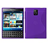 BlackBerry Passport - TPU Schutzhülle S-Style S Design Hülle Schutz Cover Etui Hülle in Lila - RT-Trading