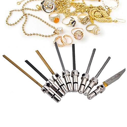 【𝐑𝐞𝐠𝐚𝐥𝐨 𝐝𝐞 𝐍𝐚𝒗𝐢𝐝𝐚𝐝】 Brocas de corte de grabado de 8 piezas para herramienta de joyería de máquina de grabado de impacto neumático