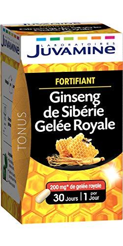 JUVAMINE - FORTIFIANT, GINSENG de Sibérie & GELEE ROYALE, 30 gélules