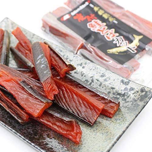 鮭とば 燻製 さけとば 本格熟成 皮あり 燻製 鮭とば 120g ひと口 プレミアムカット 鮭とば 皮あり 燻製