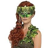 NET TOYS Elegante máscara de Hada del Bosque para Adulto - Verde - Atrayente Accesorio...