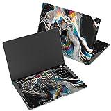 Wonder Wild Skin for MacBook Decal Vinyl Air 11 inch Apple Mac 13 Retina 12 Pro 15 Keyboard 2019 2018 2017 2016 16' Protective Sticker Laptop Glitch Art Abstract Black Holographic Paint Rainbow Flow