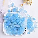 ABCABC 30G-50G Piedra Natural Cristal de Cristal Grava Espécimen Turmalina Aquamarine Amatista Decoración para el hogar para la decoración de Acuario Energía Piedra (Color : Aquamarine, Size : 50g)