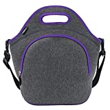 Hibala Neoprene Lunch Tote Bag For Women&Men-With Zipper-Keeping Food Cold/Warm...