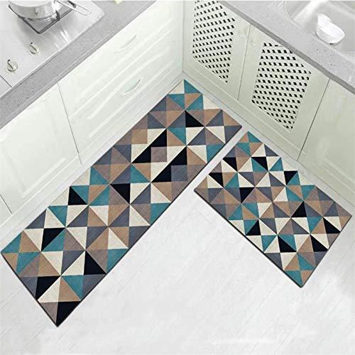 HLXX Alfombra de baño Moderna, Felpudo de Entrada, decoración del Piso del hogar, Alfombra de Sala de Estar, alfombras absorbentes Antideslizantes para baño A17, 50x80cm