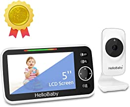 Baby Monitor with Camera and Audio& 5'' Large LCD Video Baby Monitor, 1,000ft Range, Bright Night Vision, VOX Mode, 2-Way ...