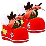 Stivali di Natale di nuovissimo design --- Gli stivali rossi del sacchetto di caramelle possono essere usati come scatola di caramelle, sacchetto di snack, portapenne e una buona decorazione per Natale. Gli stivali che affollano corna e campane posso...