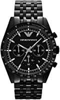 Emporio Armani Sportivo Men's Black Dial Stainless Steel Band Watch - Ar5989, Analog Display, Japanese Quartz Movement