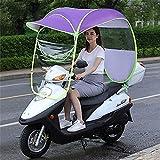 Paraguas universal para scooter de motor para automóvil, toldo para lluvia de motocicleta, parasol de scooter de motor completamente cerrado, parasol de movilidad y cubierta impermeable para lluvia,