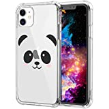 iPhone 11 Case,Cute Chinese Panda Pattern Clear with Design Transparent Plastic iPhone 11 Case TPU Bumper Protective Case,Compatible with Apple iPhone 11