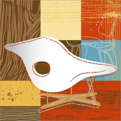 Posterlounge Alubild 30 x 30 cm: la Chaise 01 von Thomas Marutschke