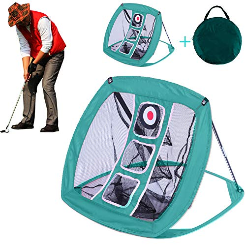Pop Up Golf Chipping Net Indoor/Outdoor Golfing Target Accessories for Men Women Golfers - Backyard Practice Swing Game- for Accuracy and Swing Practice Swing Game(Green)