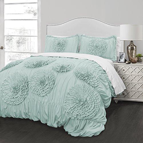 Better Homes and Gardens Kids Ruffled Flowers Bedding Comforter Set, Twin set (Aqua)