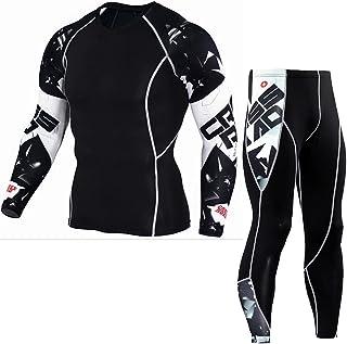 NIEWEI-YI Men Ski Thermal Underwear Set Base Layer Winter Warm Compress Long Johns