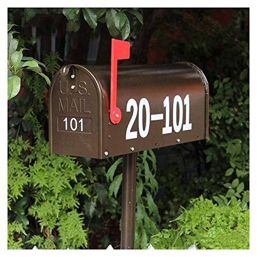 WJJ Cassetta Postale Esterno Vintage Postbox americana metallo Mailbox decorativo, Retro Villa Mail Box Outdoor rain Latte giornali di sicurezza, con serratura resistente alle intemperie Postbox fuori