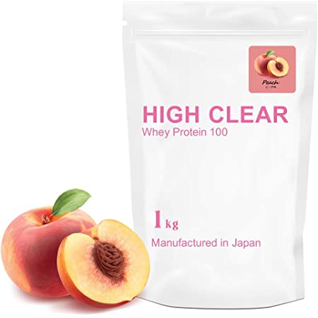 HIGH CLEAR さっぱりピーチ風味 WPC100ホエイプロテイン 1kg(約40食分)