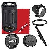 Nikon AF-P DX NIKKOR 70-300mm f/4.5-6.3G ED VR Lens Bundled Accessory Kit (White Box)