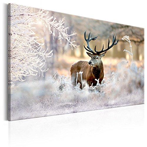 murando - Bilder Hirsch 120x80 cm Vlies Leinwandbild 1 TLG Kunstdruck modern Wandbilder XXL Wanddekoration Design Wand Bild - Natur Tier Landschaft g-C-0057-b-b