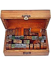 Ning store 70pcs Alphabet Stamps Vintage Wooden Rubber Letter Number and Symbol Stamp Set for DIY Craft Card Making Happy Planner Scrapbooking Supplies