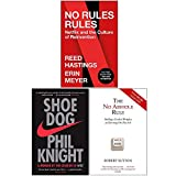 No Rules Rules, Shoe Dog, The No Asshole Rule 3 Books Collection Set