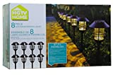 HGTV Solar Pathway Lights 8pc Set
