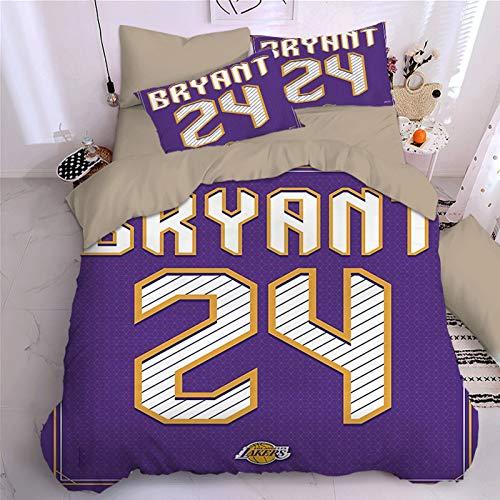 NAFE - Juego de sábanas de baloncesto (4 piezas, tamaño doble, matrimonial/queen), diseño de sábanas con sábana bajera para niños, niñas y niños