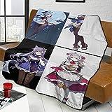 Manta Personalizada con Foto Texto, Manta de Franela Personalizada Anti-Pilling para Cama, sofá, Sala de Estar, Regalo de cumpleaños de Boda Familiar, Carga de Foto, Anime, 80 x 60 Pulgadas, 1 Foto