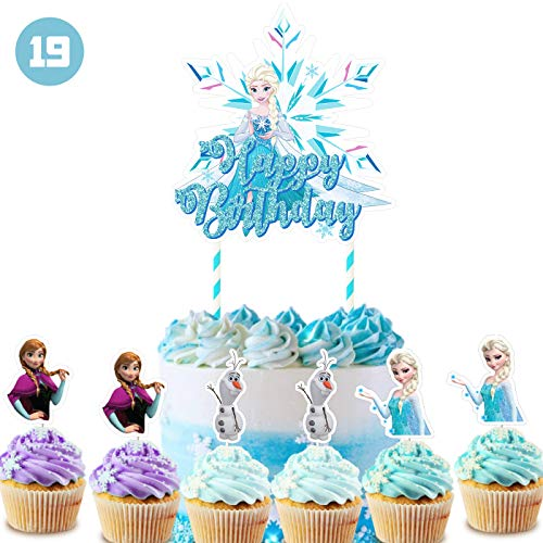 Frozen Cake Topper Cupcake Toppers Decorations Birthday Party Topper for Children
