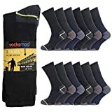 Socksmad Heavy Duty Work Socks - 12 Pairs Safety Boot Working Socks