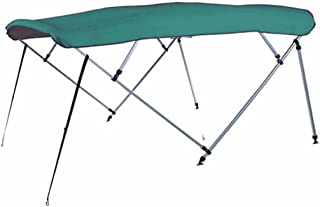 7 oz Teal 4 Bow Square Tube Boat Bimini TOP Without Running Light Cutout Sunshade for Tracker/BASS Tracker/SUNTRACKER Party Barge 22 XP3 2016-2017