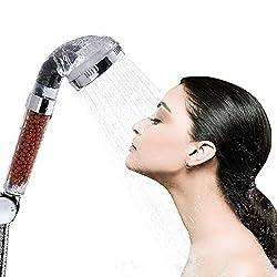 Dusche Kopf, Bukm Duschkopf Ionic Filter hohen Druck Wasser sparen Handbrause Filtration Sprinkler Sprayer Handheld Duschkopf für Wellnessbrause Home Badezimmer Hotel …