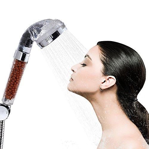 Alcachofa de ducha, Bukm ahorro de agua, filtro iónico Handheld alcachofa de ducha 200% alta presión 30% de ahorro de agua para piel seca y pelo