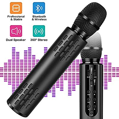 Wireless Bluetooth Karaoke Microphone with Dual...