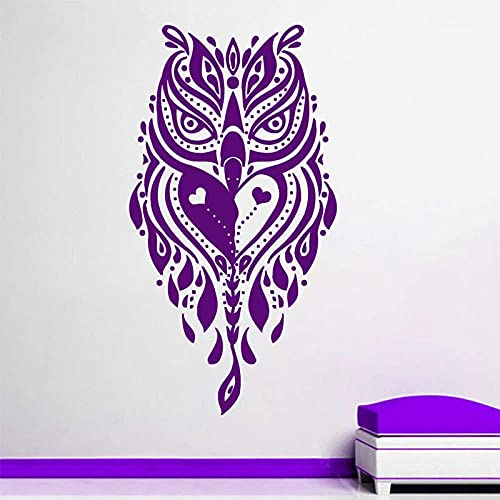 Pegatinas De Pared De Búho Creativo Púrpura Autoadhesivo Decoración Del Hogar Pegatinas De Pared De Sala De Estar De Jardín De Infantes 59X112Cm