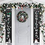 Amosfun Banner Portico di Natale Benvenuto Banner Decorativo per Appendere Decorazioni Nat...