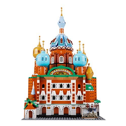 ColiCor Modelo de Construcción de Bloques 1298 Piezas 1: 400 St.Petersburg Edificios Construcción Edificio de Ladrillos Creativo Conjunto de Bloques, Compatible con Lego