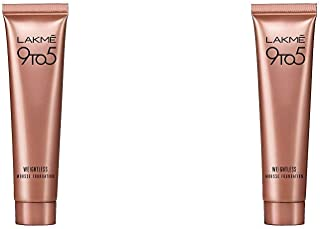 Lakme 9 to 5 Weightless Mousse Foundation, Beige Vanilla, 6g & Lakme 9 to 5 Weightless Mousse Foundation, Rose Ivory, 6g