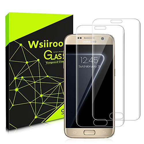 wsiiroon [2 Stück Samsung Galaxy S7 Edge Panzerglas Displayschutzfolie, Fingerabdruck-ID unterstützen, Folie Ultra Klar, Ultradünn, Blasenfrei Schutzfolien Folie für Samsung Galaxy S7 Edge