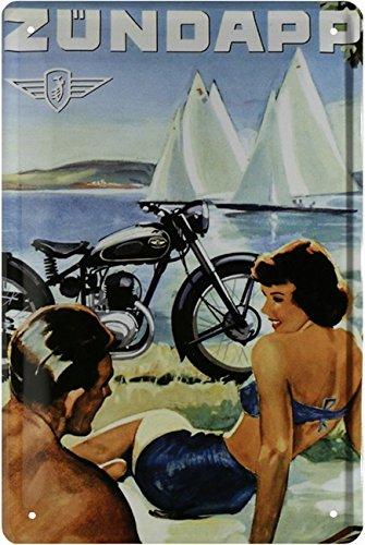 Zündapp Motorrad Retro Reklame Bike Oldtimer Blechschild 20 x 30 Retro Blech 582
